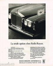 PUBLICITE ADVERTISING 055  1977  FRANCO BRITANNIC-AUTOMOBILES  la ROLLS-ROYCE