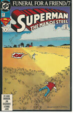 DC # 21 MAR 1993 SUPERMAN THE MAN OF STEEL FUNERAL FOR A FRIEND  NRMT