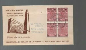 Venezuela: Cover with stamp in block of 4 with special postmark Maracaibo VS0183