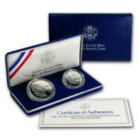 1991 D Korean War Memorial $1 Commemorative MS//UNC Silver Dollar w// COA /&Box 1