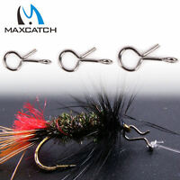 Maxcatch 50Pcs/lot Fly Fishing Snap Hook Quick Change for Flies Hook Lures