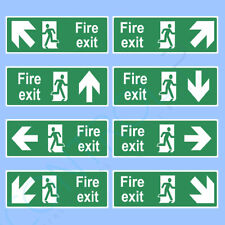 Fire Exit Sign, Sticker - ALL SIZES - Emergency, Escape, Fire Drill, Safety