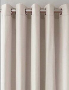 Canvas Blackout Eyelet Ring Top Curtains (Pair of) NOW £10, £15 & £25