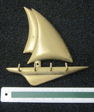 Schlüsselbord Segelschiff Messing 17 X 19 Deko Hakenleiste Schärenkreuzer