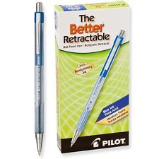 Pilot The Better Retractable, Medium Point, Blue (PIL 30006) - 12/pk