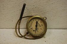 "Vintage Marsh Instrument Co Brass Gauge 2-1/8"" temperature glass steampunk"