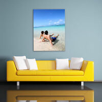 PERSONALISED PHOTO ON CANVAS. PORTRAIT SIZES. HIGH QUALITY PRINT, FRAME, COLOUR