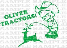 OLIVER pee decal TRACTOR PULL pulling trailer plow MOWER parts sticker