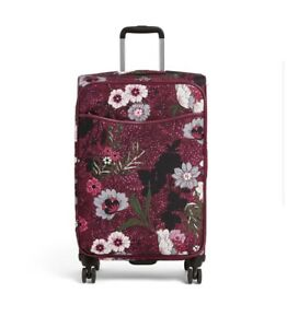 """NWT Vera Bradley 27"""" Iconic Large Rolling Spinner Luggage - Bordeaux Meadows New"""