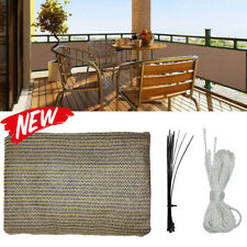Balcony Privacy Screen Cover Outdoor Shade Fence Mesh Windscreen Deck Garden