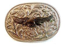 Vintage Silver Tone American Eagle Belt Buckle