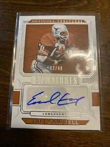Earl Campbell 2019 AUTO National Treasures Card