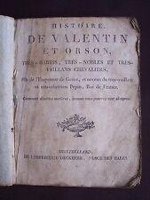 Histoire de Valentin et Orson, très hardis, très nobles et très vaillants cheval