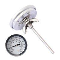 Barbecue Smoker Grill Thermometer Temperature Gauge Stainless BBQ Accessories