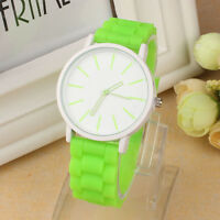 Women Men Silicone Rubber Jelly Gel Watch Quartz Sports Teenager Wrist Watches