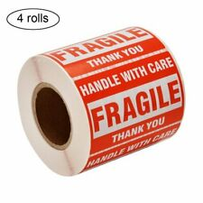 4 Rolls 2x3 Fragile Stickers 500 Per Roll Handle With Care Thank You Labels