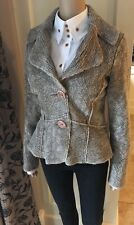 dp Jeans ~  Didier Parakian ~ Faux Fur Suede Jacket UK 10 12 14