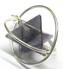 Beautiful amethyst merkaba star pendant crystal fashion jewelry gift reiki power