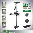 12V 55 lbs Bow Mount Electric Trolling Motor foot control Quick Release bracket