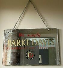 More details for rare vintage chemist's shop apothecary advertising mirror decorative interior