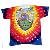 New GRATEFUL DEAD SUMMER TOUR BUS VW  TIE DYE T Shirt  LICENSED ROCK SHIRT