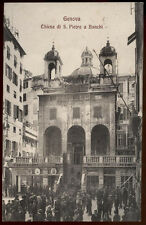 cartolina GENOVA chiesa di s.pietro a banchi