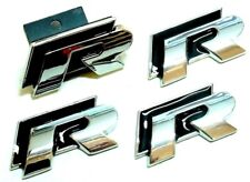 R Chrome & Noir Badge Set Front critiquée Grill client 32 R VW Golf Polo R LINE