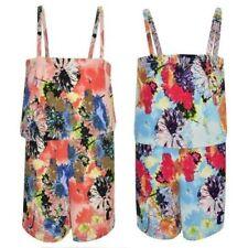 Combinaisons shorts et pantalons à motif Floral pour fille de 2 à 16 ans