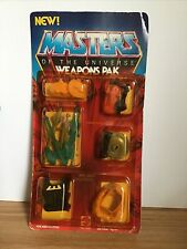1983 He-man Masters Of The Universe Weapons Pak Accessories Sealed NIP