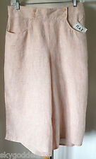 NWT! FLAX ARTSY LINEN 07 WIDE LEG SKIPPER CROP/ CASUAL FUN PANTS MELON GELATO S