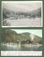 Lombardia. PORLEZZA (Como). Veduta generale - Lago di Lugano. Due cartoline...