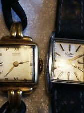 Vintage Cupillard Rieme watch and another one, spares or repair