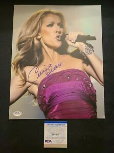 CELINE DION SIGNED 11X14 PHOTO MY HEART WILL GO ON PSA/DNA AUTHENTIC #AH48633