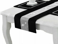 Tischläufer mit Zirkonia Eleganten Tischband Tischtuch Tischdecke vielen Farben