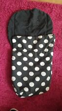 Mamas And Papas Black With White Spots Footmuff