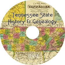 Tennessee History & Genealogy {41 Family Tree Research Books} on DVD