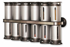 Condiments Spice Rack 12 Canisters Jar Container Organizer Wall Mount  Set NEW