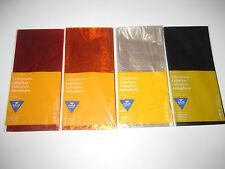 Set x5 Feuilles de Papier Cellophane Brillant Feuilles 50x70 cm Couleur au choix