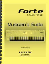 Kurzweil Forte Musician's Guide