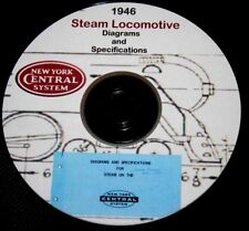 New York Central Railroad 1946 Steam Locomotive Diagrams & Data PDF Pages  DVD
