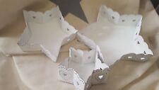 Chic Antique Lot de 3 plateau étoile blanc métal décoration de Noël Bol