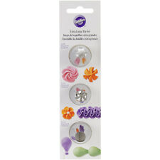 Decorating Tip Set 3/Pkg-XL - Star #1M, Flower #2D & Round #2A