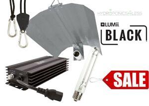 600w LUMii BLACK Dimmable Digital Ballast Grow Light kit HPS Dual Spectrum Bulb