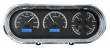 Dakota 63 64 65 Chevy Nova Analog Dash Gauges Black Blue Kit VHX-63C-NOV