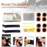 New Bike Bicycle Flat Tire Tyre Repair Tool Kit Rubber Patch Fix Glue Sets L7U9
