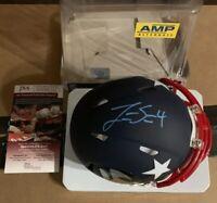 Jarrett Stidham Autographed Signed Mini AMP New England Patriots Helmet JSA Blue