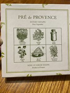 Pre De Provence 6 Fragrance  Guest Soaps (Set of 9) Made in France Brand New