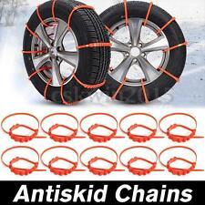 10x Anti-skid Car Snow Rainy Tyre Tire Tendon Chains Vehicles Wheel Nylon Chain