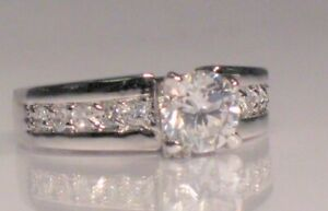 2.00 Ct Round cut Solitaire Promise Engagement ring White Gold ov Size 8