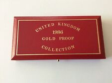 1986 United Kingdom GOLD 3 (Three Coin) Proof Set in Original Presentation Case